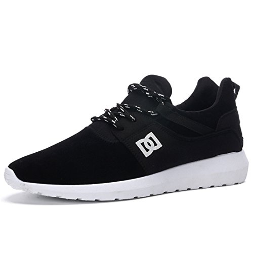 Men's Mesh Breathable Lace Up Slip On Running Shoes Black
