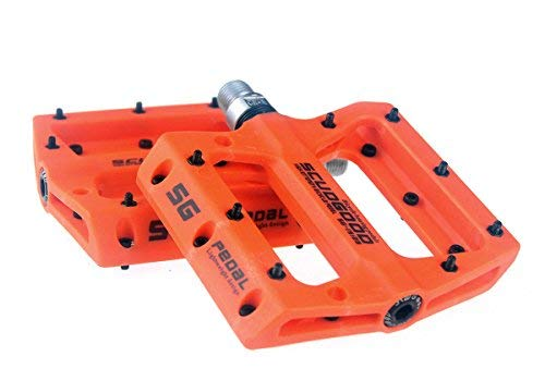 Pedali da mountain bike leggeri per AM, FR, DH, DJ, BMX, 1 coppia, Orange