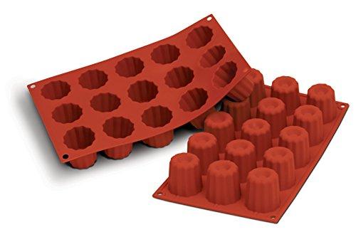 SILIKOMART PROFESSIONAL - Moules flexibles silicon flex : 15 mini canelés Canelé. Cuisine : Autour De La Pâtisserie (moules En Silicone)