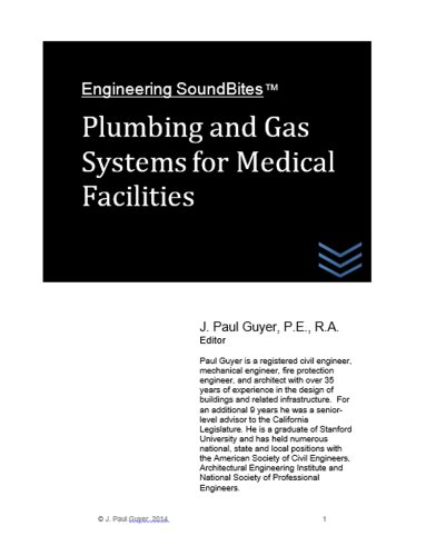 Plumbing and Gas Systems for Medical Facilities (Engineering SoundBites) (English Edition) -