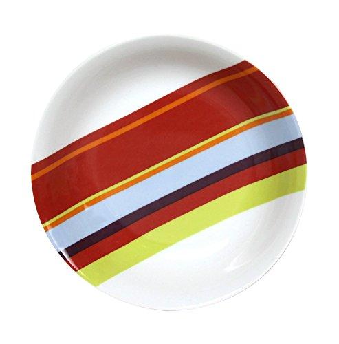 Novastyl 5084298 Lot de 6 Assiettes Calotte Côte Soleil Porcelaine Multicolore 18,5 x 23 x 4 cm