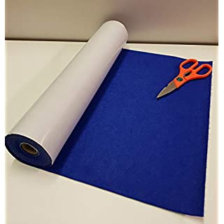 Two Metre's x 450mm Wide roll of Royal Blue Sticky Back SELF Adhesive Felt Baize