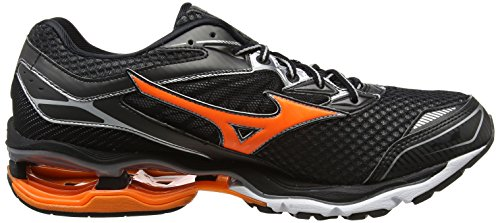 Mizuno Wave Enigma 6, Chaussures de Running Compétition Homme Noir (Black/clownfish/silver)