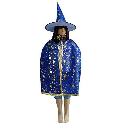 ZREAL Halloween Hexe Hut Kostüm Party Glitter Stern -