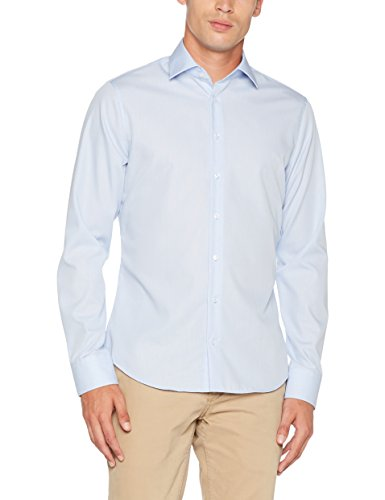 Seidensticker Herren Businesshemd Tailored Langarm mit Kent-Kregen Bügelfrei hellblau (0011)