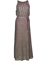 77e360b5a044 M Missoni Two-Tone Micro Pleated Dress Donna