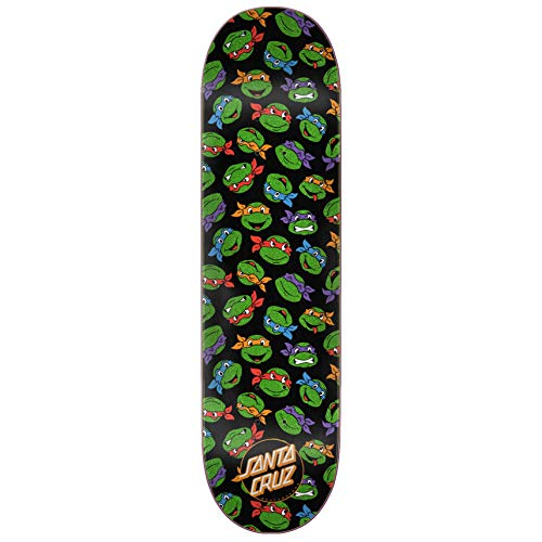Santa Cruz x TMNT Skateboard Deck Allover Turtle 8.25