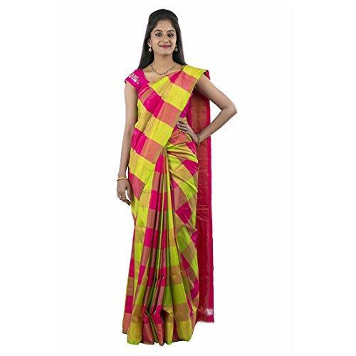 Abhisilks Women's Uppada Soft Silk Saree Saree With Blouse Piece (Abs1004, Pink...