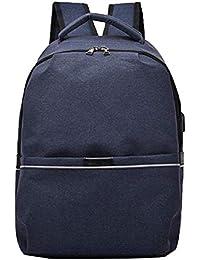 98ea2ebeec3e7 QHorse Lässig Rucksack Jungen Rucksäcke Großraum Schulrucksack Leinwand  Wasserdicht Daypacks 15 6 Zoll Laptop Backpack