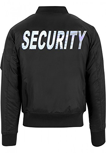 SECURITY - Bomber Jacke - reflektierende Folie schwarz Gr.L