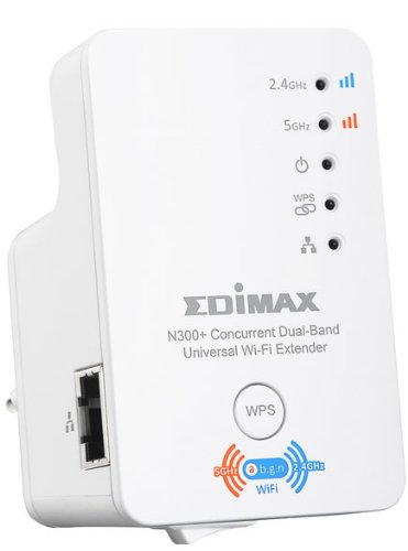 Price comparison product image EDiMAX EW-7238RPD N300+ Dual Band Concurrent Universal Wi-Fi Extender