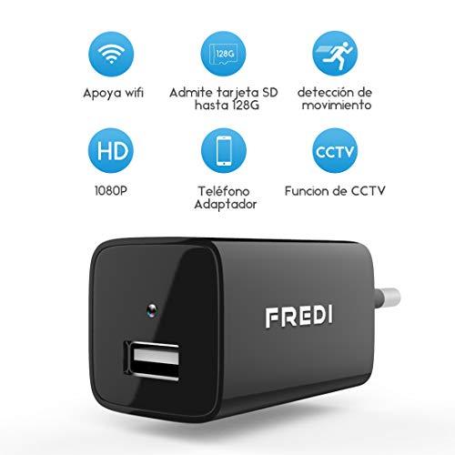 FREDI IP Mini WiFi Cámara Espía/Oculta/HD 1080p /Admite Tarjeta de 128G(no Incluye) Detección de Movimiento Cámara vigilancia Camara IP
