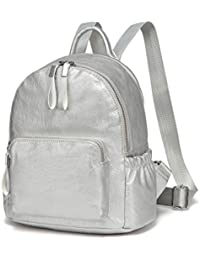 4fce51b3933f VASCHY Pu Leather Mini Backpack Girls Backpack Fashion Women Backpack  Lightweight Ladies School Bag