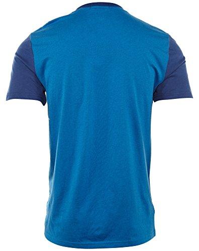 Fred Perry T-Shirt - mit großem Kranz Blau