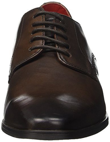 Base London George, Chaussures Lacées Homme Marron (Burnished Cocoa)