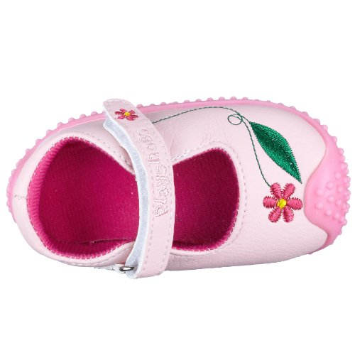 Playshoes Blume 153317, Chaussures premiers pas fille Rose