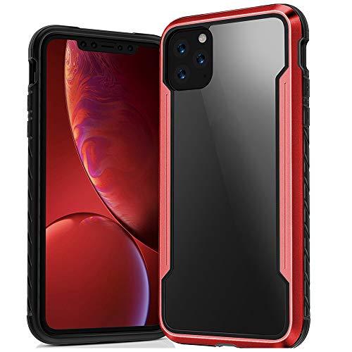 SHRG Adatto per iPhone 11/iPhone 11 PRO/iPhone 11 PRO Max Conchiglia,TPU Silicone Caso, Anti Scivolo E Antiurto - Gelatina Trasparente,Rosso,iphone11pro