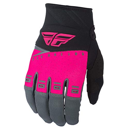 FLY Course 2019 F-16 Gants Motocross - Rose Néon Noir Gris, Medium