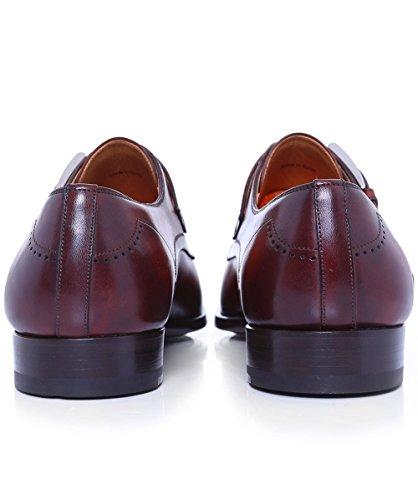 Magnanni Hommes Chaussures de sangle en cuir moine Brun Brun