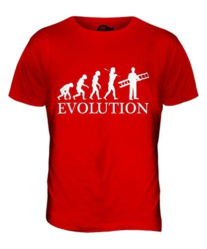 CandyMix Maler Und Lackierer Dekorateur Evolution Des Menschen Herren T Shirt Rot