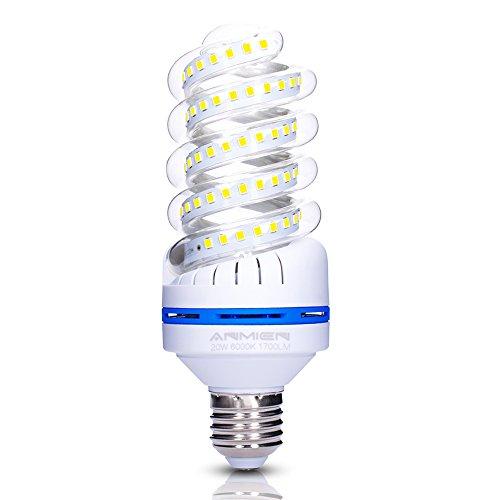 20w Energiesparlampe (E27 LED Lampe, 20W ersetzt 150W LED Birne, Kaltweiss 6000K, 1750 lumen LED-Leuchtmittel 20 watts, 360 Grad Abstrahlwinkel, Nicht Dimmbar Energiesparlampe,LED Birnen E27, Energiespar-Strahler, 1er Pack)