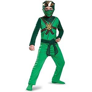 LEGO Ninjago Movie- Classic Lloyd Disfraz, Color verde, large (Disguise DISK98092G)