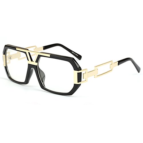 nenbrille Damen Herren Metall Brillen Gold Herren (Trinken Brillen)
