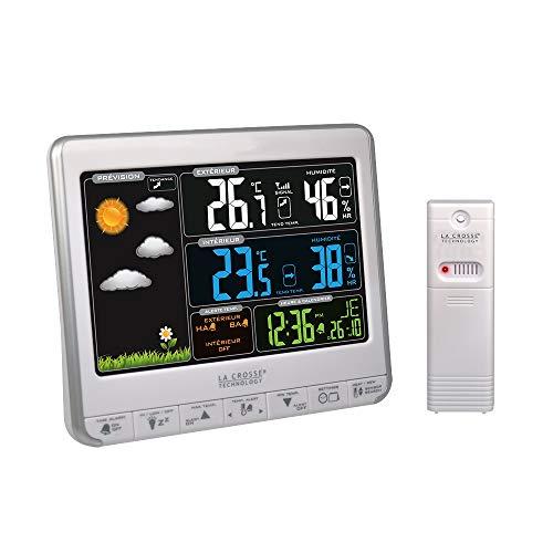 La Crosse Technology WS6826WHI-SIL - Estación metereológica, Color Plateado y Blanco