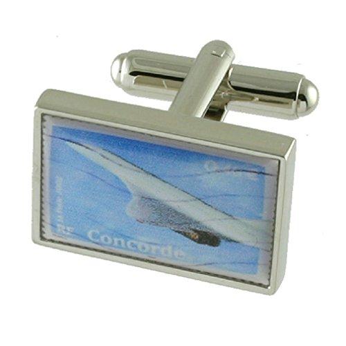 Select Gifts Manschettenknöpfe Concorde Überschalljet Airline graviert Personalisierte Box