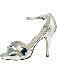 Rainbow Club Brautschuhe Cate - Damen High Heels gepolstert, Ivory Creme,  Rosé- 348818f81f