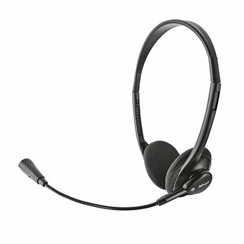 Trust-Primo-Cuffie-Stereo-Leggere-Microfono-Flessibile-Nero