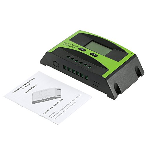KKmoon 20A 12V/24V Solar Laderegler PWM Aufladung Temperatur Kompensation Überladung Schutz LCD Display für netzunabhängige Solaranlage - 9