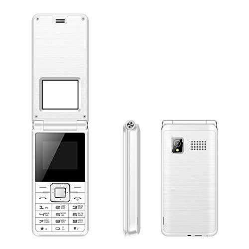 SERVO Flip Phone Englisch Tastatur Bluetooth FM Dual SIM Karte Handy GPRS Funktion Maschine Flip-Telefon Alter Mann Maschine (Weiß)