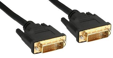 InLine 17772P Premium DVI-D Anschlusskabel (Digital 24 Plus 1 Stecker-auf-Stecker, Dual Link, 2 m)