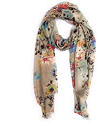 Bratkrok Rayon Floral Printed Scarf, scarves, stole & Shawl for Women for Summer & Winters