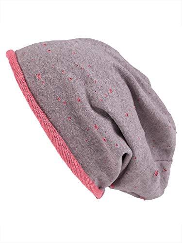 shenky Chemomützen Unisex dünne Mütze bei Haarausfall Haarverlust Chemotherapie Beanie (Grau Pink Destroyed) -