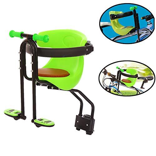 Yavso Fahrrad Kindersitz Vorne Abnehmbar Fahrradsitz Kind Sättel mit Pedal Fahrradkindersitz für Mountainbike Elektrofahrrad
