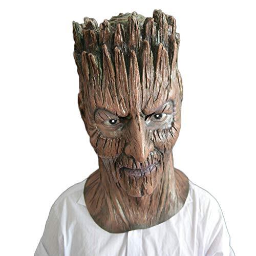QQWE Halloween Party Latex Maske Pflanze Kopfbedeckungen Groot Baum Dämon Maske Film Requisiten,A-OneSize
