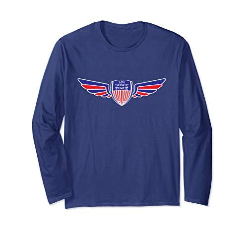 US Platz Macht Flügel Emblem Langarmshirt -