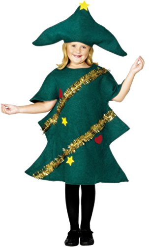 Kinder Weihnachtsbaum Kind Kostüm Fancy Kleid Party Club Wear komplett Gr. L, (Fancy Kostüme Dress Weihnachtsbaum)