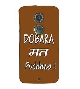 Fuson Premium Dobara Math Puchna Printed Hard Plastic Back Case Cover for Motorola Moto X (2nd Gen)