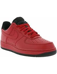 online store 3819f b44a7 Nike Air Force 1 `07 Schuhe Herren Echtleder-Sneaker Skaterschuhe Rot