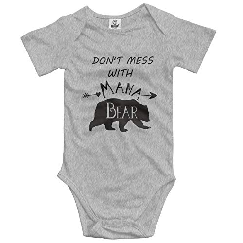 Klotr Unisex Baby Body Kurzarm Mama Bear Newborn Bodysuits Baumwolle Strampler Outfit Set (Bear Care Outfit)