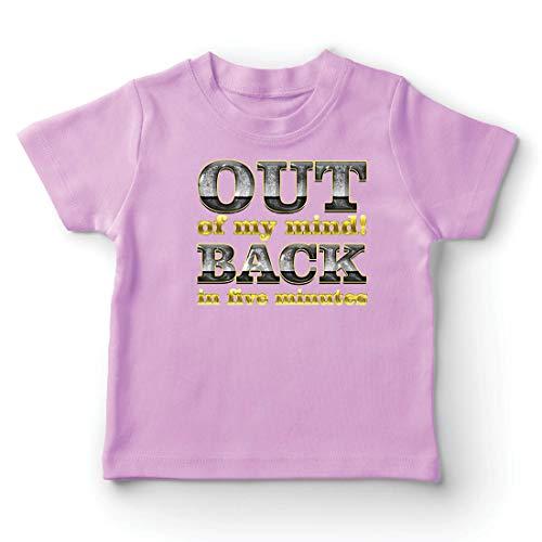 lepni.me Kinder Jungen/Mädchen T-Shirt Ich Bin verrückt geworden! Bin in fünf Minuten zurück. Lustiges Zitat (1-2 Years Pink Mehrfarben)