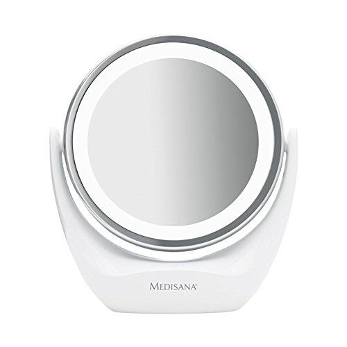 Price comparison product image Medisana CM840 – Desktop Cosmetic Mirror Compact (Travel-Size) 16.9x8x19 cm White and Silver