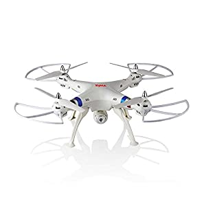 SYMA X8W WiFi FPV 2.4G Quadrocopter UFO HD 0.3MP Kamera FPV Real-Time Video Live-Ãœbertragung 6 Achsen-Gyro 3D Rollenstolper