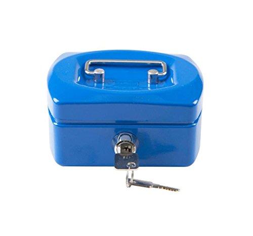 Idena 50033 - Geldkassette Mini, 125 x 95 x 60 mm, Blau