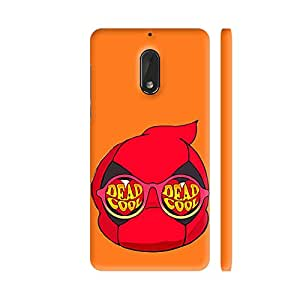 Colorpur Red Dead Cool On Orange Printed Back Case Cover for Nokia 6