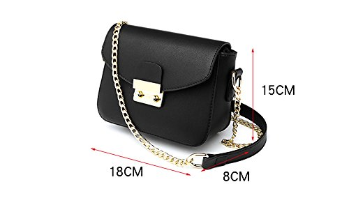 Estate mini pacchetto selvaggio, borsa a tracolla femminile coreana, zaino obliqua, borse, pacchetto catena ( Colore : Nero ) Rosso