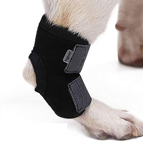 V.JUST Haustier Hund Knie Hock Brace Bandagen Gurte für Hunde Bein Sprunggelenk Schutz mit Einer Rolle Bandage Wrap Hund Medizintechnik,S